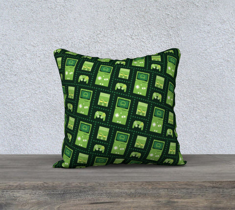 Nintendo Consoles, Metroid Pattern Pillow (Green)