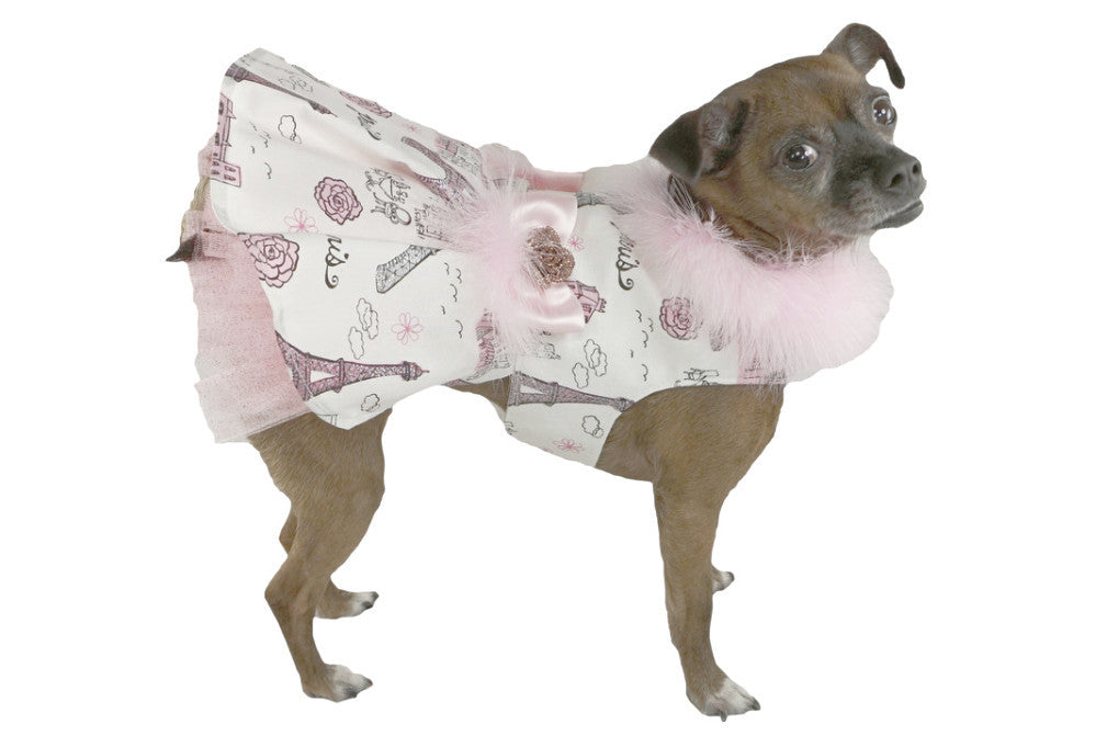 Bella Poochy Pretty In Pink Paris Dress for Dogs - Lavish Pets