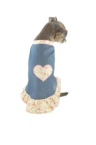 Bella Poochy Lightweight Jean Dress for Dogs