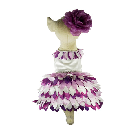 Bella Poochy Purple Petals Dress for Dogs