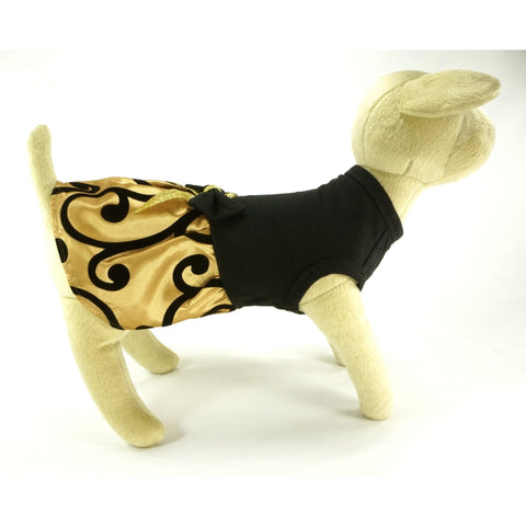 BARK Black and Gold Dress - Lavish Pets