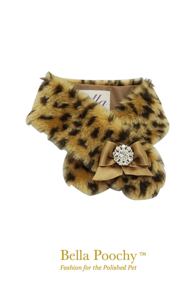 Bella Poochy Faux Fur Dog Scarf
