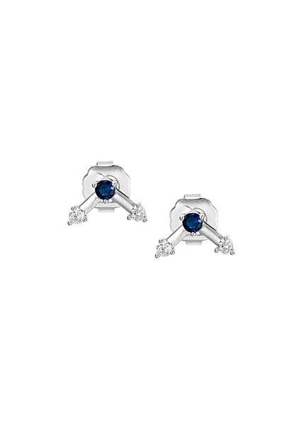 MeMe London Aida Earrings White Gold