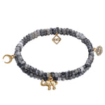 MeMe London African Dream Bracelet grey in gold