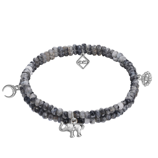 MeMe London African Dream Bracelet grey in white gold