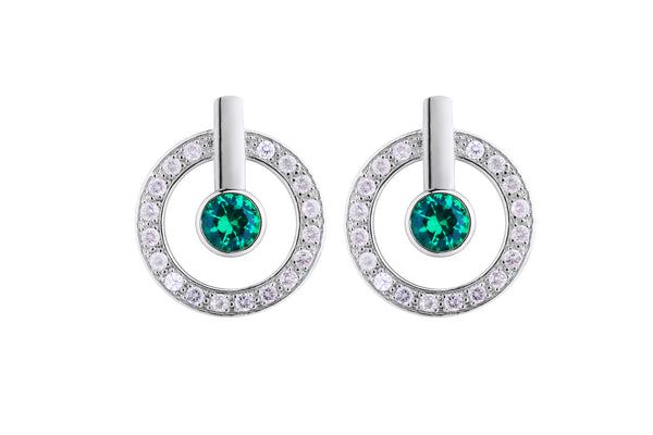 MeMe London Anne Marie Earrings  - White Gold