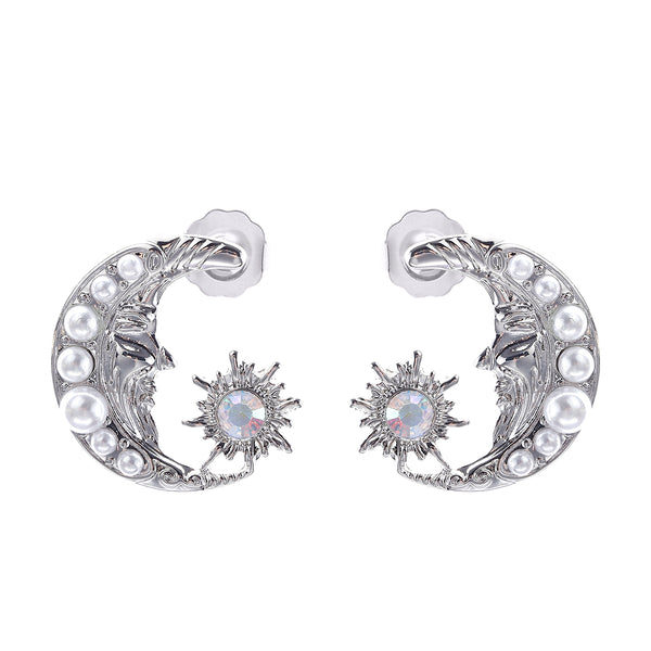 MeMe London Brielle Earrings - White Gold