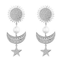 MeMe London Ella Earrings - White Gold
