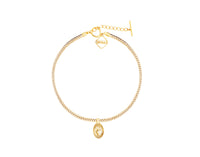MeMe London Flaming Heart Choker - Gold