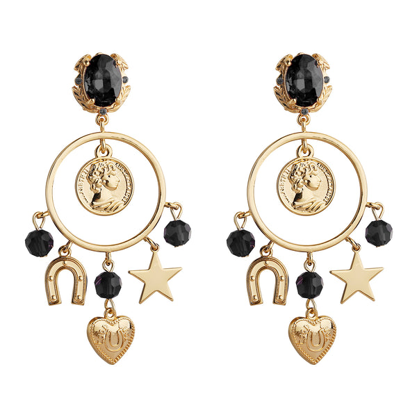 MeMe London Flavie Earrings - Black