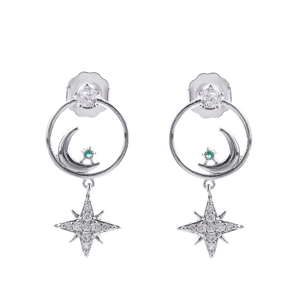 MeMe London Gigi earrings - White Gold