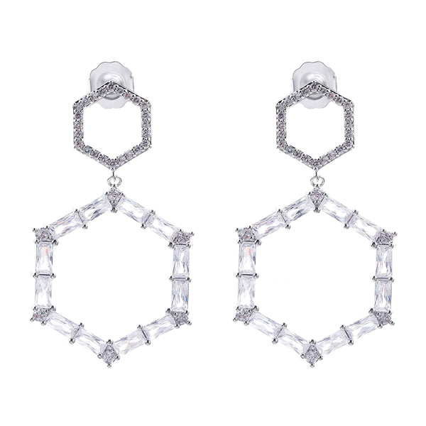 MeMe London Jolie Earrings - White Gold