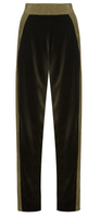 Pritch London Velvet and Leather Pants Size 10