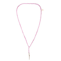 MeMe London Light Me Up Necklace - Pink With Gold