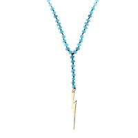 MeMe London Light Me Up Necklace - Turquoise with Gold