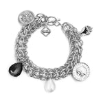 MeMe London Lucky Charm Bracelet - white gold