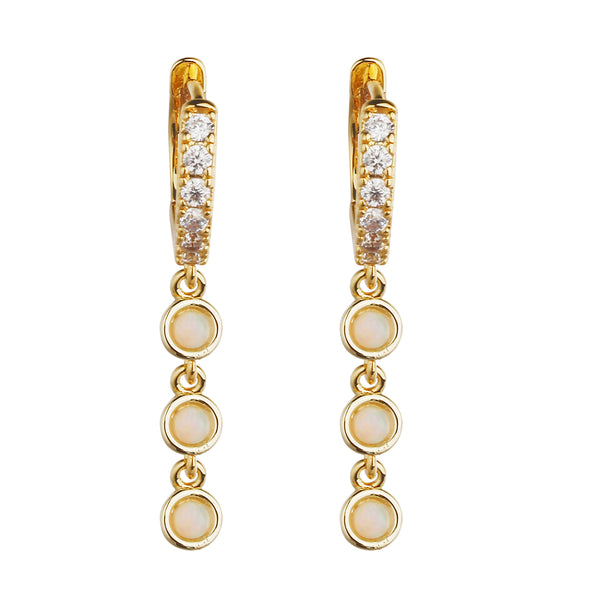 MeMe London Malibu Earrings - Gold/White Gold