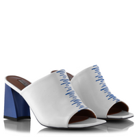 Ganor Dominic - Bianca Mules - White Blue - 39