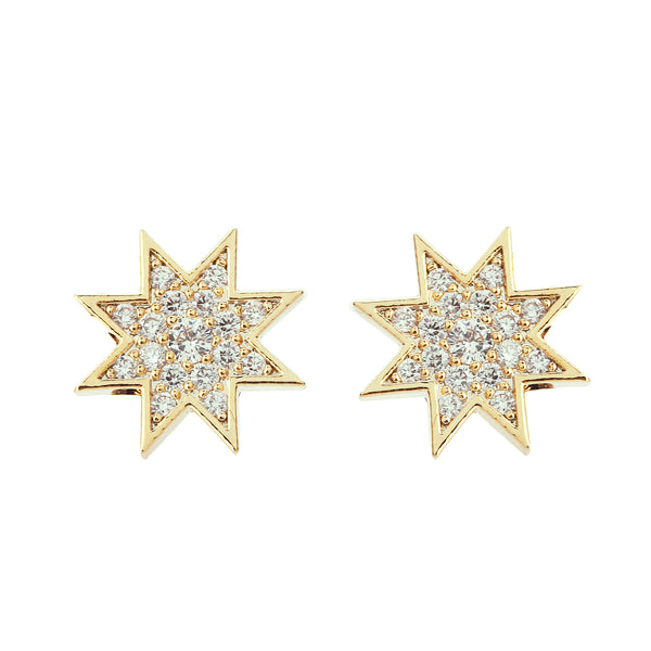 MeMe London Sunburst Earrings - Gold