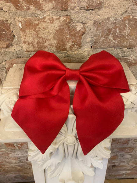 Vipers Sisters Hair Bow Clip In Red