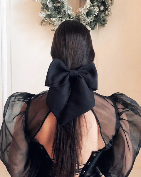 Vipers Sisters Hair Bow Clip In Black