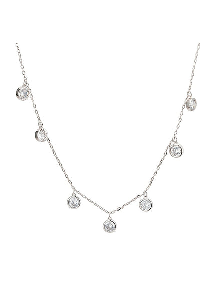 MeMe London Caro Necklace White Gold