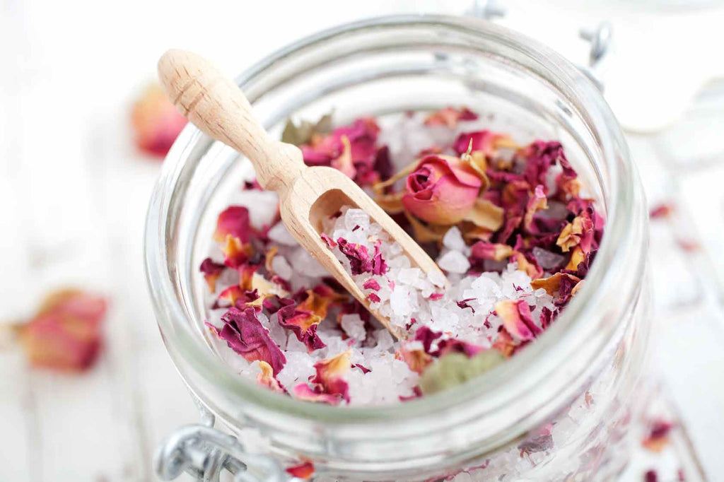 Floral Bath Soak - DIY Recipe to Soothe & Relax After a Stressful Day