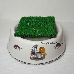 Carpet Sample Added To A Dog Dish Fairy Garden