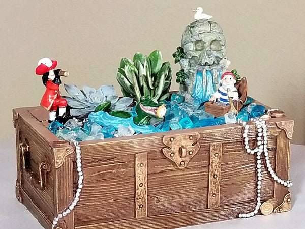 Peter Pan and Captain Hook Invade Your Fairy Garden With These Miniatures