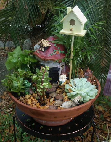 our first fairy garden contest entry