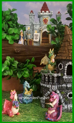 dragons and castles knight and princess for your fairy garden