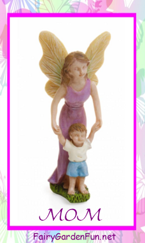 mother and son fairy for mothers day fairy garden