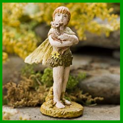 Fairy Garden  Best Friends Boy and Deer Fairy - Fairy Garden Fun