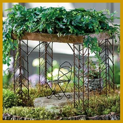 Fairy Garden  Living Roof Pavilion Set of 2 - Fairy Garden Fun