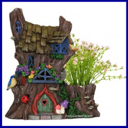 Fairy Garden  Fairy Garden Miniature Solar House Planter Dollhouse 140 - Fairy Garden Fun