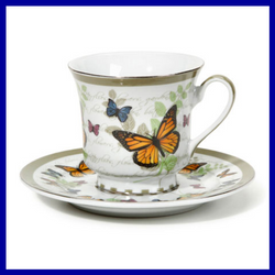 Fairy Garden  Butterfly Tea Cup and Saucer - Fairy Garden Fun