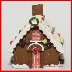 Fairy Garden Micro Gingerbread Cottage