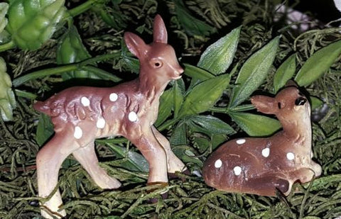 Fairy Garden  Baby Deer Set of 2 - Fairy Garden Fun