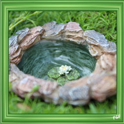Fairy Garden  Itty Bitty Micro Pond   WFG1184 - Fairy Garden Fun