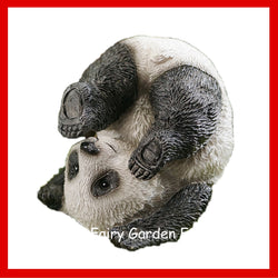 Fairy Garden  Panda in Plow Yoga Pose - Fairy Garden Fun
