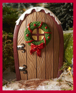 Fairy Garden  Christmas Fairy Door Wreath ~ Brown  GC016 - Fairy Garden Fun