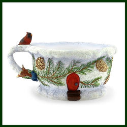 Fairy Garden  Cardinal Tea Cup Planter - Fairy Garden Fun
