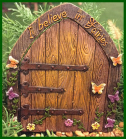 Fairy Garden  I Believe in Fairies Fairy Door Figurine 1016 - Fairy Garden Fun