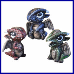 Fairy Garden  Baby Dragons Set OF 3 - Fairy Garden Fun