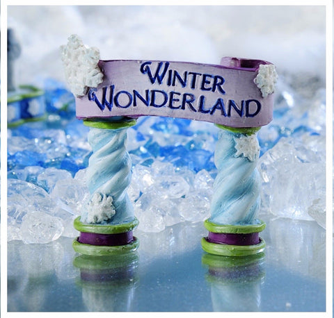 Fairy Garden  Snow Fairies Winter Sign Set of 2 - Fairy Garden Fun