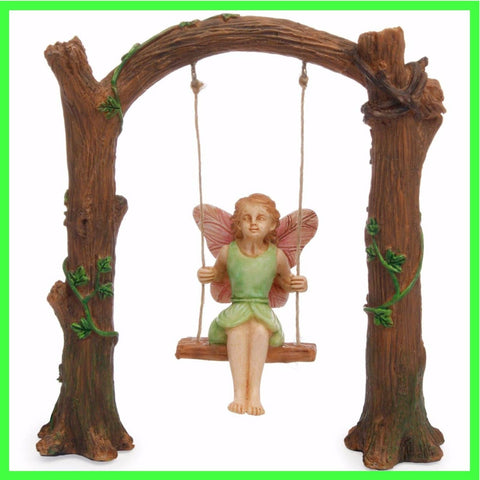 Fairy Garden  Arch Swing With Fairy  126 - Fairy Garden Fun