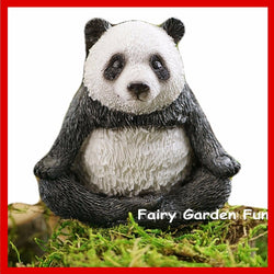 Fairy Garden  Panda in Lotus Pose - Fairy Garden Fun