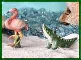 Fairy Garden  Glow In The Dark Flamingo & Alligator Set   GC363 - Fairy Garden Fun