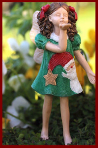 Fairy Garden  Fairy Tabby Blows A Kiss   WFG838 - Fairy Garden Fun