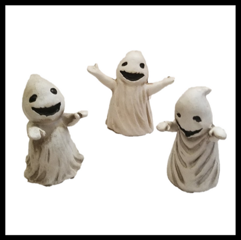 Fairy Garden  Ghosts Set of 3 ~ Kids In Sheet Costumes - Fairy Garden Fun